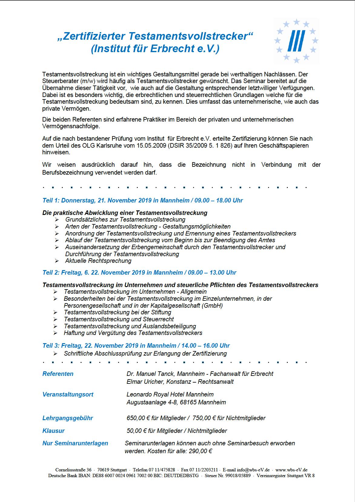 Beitrittserklärung WBS e.V. Stuttgart